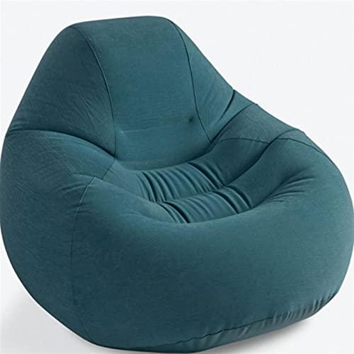 XCYY Sofa Gonflable Canapé Gonflable Canapé Gonflable Cyan Simple Portable Portable Beach Beach Lit De Jardin (Color : Cyan Blue)