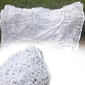 YiDD 2x3m 2x4m 2x5m Filet de Camouflage 3x3m 3x4m 3x5m 3x6m 5x5m 6x6m 6x8m 8x8m 8x10m Filet Camouflage Blanc Filet de Protection Solaire Camping Camping en Vrac Rouleau Camo Net