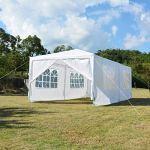 3 x 6M extérieur Gazebo Canopy Party Tent Patio Heavy Duty Tente de mariage Blanc 16450 g/580.25oz