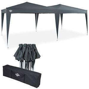 Deuba – Tonnelle de Jardin 3x6m Anthracite Pop-Up Hydrofuge Protection UV 50+ Sac de Transport Inclus – Tente de réception Barnum tonnelle Pliable