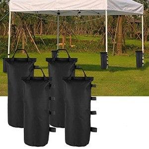 Lot de 4 sacs de poids pour pieds de tonnelle, sacs de sable 600D Oxford ultra résistants pour auvent tente pare-soleil tonnelle jardin parasols parasols trampolines