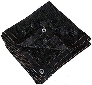 Ofde Netting Sunblock Shade Toile-Sun Shade 60% Sunscreen Shade Toile Noir Carport Patio Jardin Orchard Ombre Net 23 Tailles (Couleur : Noir, Taille : 3x3m)