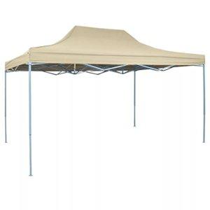 Tonnelle de jardin étanche Tente de réception Tente pliable 3 x 4,5 m Blanc crème Type F