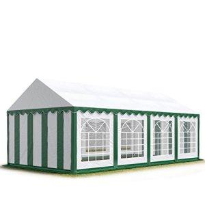TOOLPORT 4×8 m Tente de réception/Barnum Vert-Blanc Toile de Haute qualité env. 500g/m² PVC