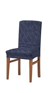 Zebra Textil Alexia Housse de Chaise élastique, Tissu, Bleu, Dossier