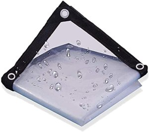 DONGQISHANGMAO Toile cirée étanche transparente bande anneau étanche transparent couverture protéine claire imperméable anti-vent imperméable anti UV terrasse bâche lourde extérieur (3x6m)