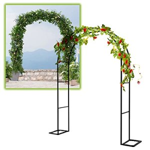 Gnova Arche Plante grimpante terrasse,2m Poids léger Treillis Jardin Arceau en métal,pergola,décoration extérieure