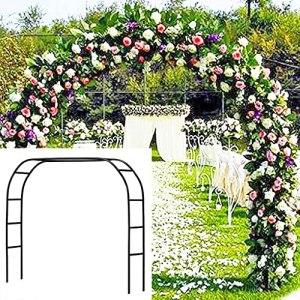 Large Poids Léger en Métal Noir De Jardin en Acier D'arche De Jardin, Jardin De Flower pour la DÉcope et Les Roses Clignimbinging Plants Props de Mariage Arch