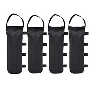 Lot de 4 poids pour pieds de tonnelle, poids de sable de qualité industrielle, sacs de poids de sable à double couture pour auvent de tente, parasol, trampoline