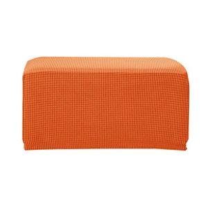 LOVIVER Protège-Fauteuil Pivotant Inclinable Confortable Siège Couverture Housse de Table Tissu Jacquard Polyester – Orange