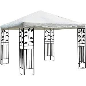 Toile De Toit | 3 X 3M Toit De Chapiteau | Toile De Rechange pour Tonelle | Abris Imperméables De Tente De Soleil De Patio De Jardin Extérieur