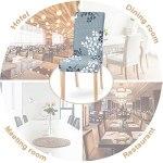 ChicSoleil Housse de Chaise Extensible 4 Pièces, Housse Chaise Salle a Manger Couverture de Chaise élastique Revêtement de Chaise pour Maison Hôtel Mariage Restaurant (4 PCS, Feuillage d'automne)