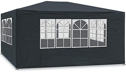 Maxx Marquee 3x4m   Protection UV50+   Hydrofuge   12m²   pavillon, Tente de Jardin, chapiteau ou tonnelle du Festival   4 parois latérales enroulables   4 fenêtres   Anthracite