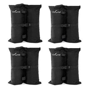 Orgrul Lot de 4 poids de sable de qualité industrielle avec double couture et boucle, sacs de poids pour tonnelle, tente, parasol, trampoline, sac de poids pour pieds