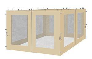 Quick-Star 4 Parois latérales avec moustiquaire pour pavillon 3 x 4 m Sable