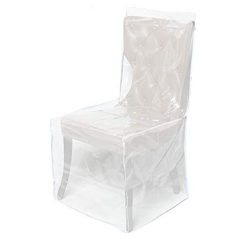 seraphicar Housse de chaise de salle à manger en plastique PVC – Housse de chaise universelle simple Dining Chair – Protection contre la poussière – Pour restaurant, cuisine, salon