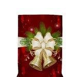 Steelwingsf Housse De Table Amovible Motif Père Noël Housse De Chaise Absorbant Doux pour La Peau Mode Léger 5 Pièces/Ensemble 140 * 180cm