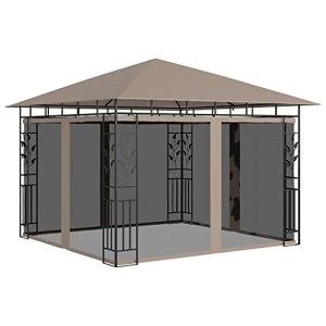 VXL Taupe Tonnelle avec moustiquaire 3 x 3 x 2,73 m 180 g/m² Gris