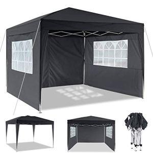 Tonnelle Pliante imperméable Tente Pliante 3x3m Tonnelle de Jardin Gazebo 3x6m Pliable Tente de Reception avec 4 côtés