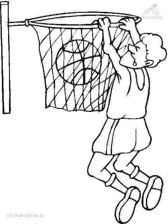 Ausmalbild Basketball