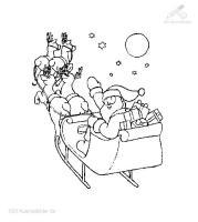 Ausmalbild WeihnachtsSchlitte