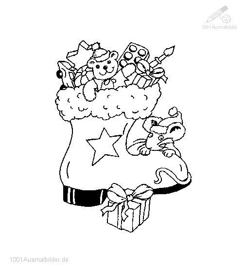 Ausmalbild ausmalbild-weihnachtssocke-5