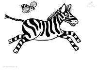 Ausmalbilder Tiere Zebra Ausmalbild Tiere Zebra Kostenlos