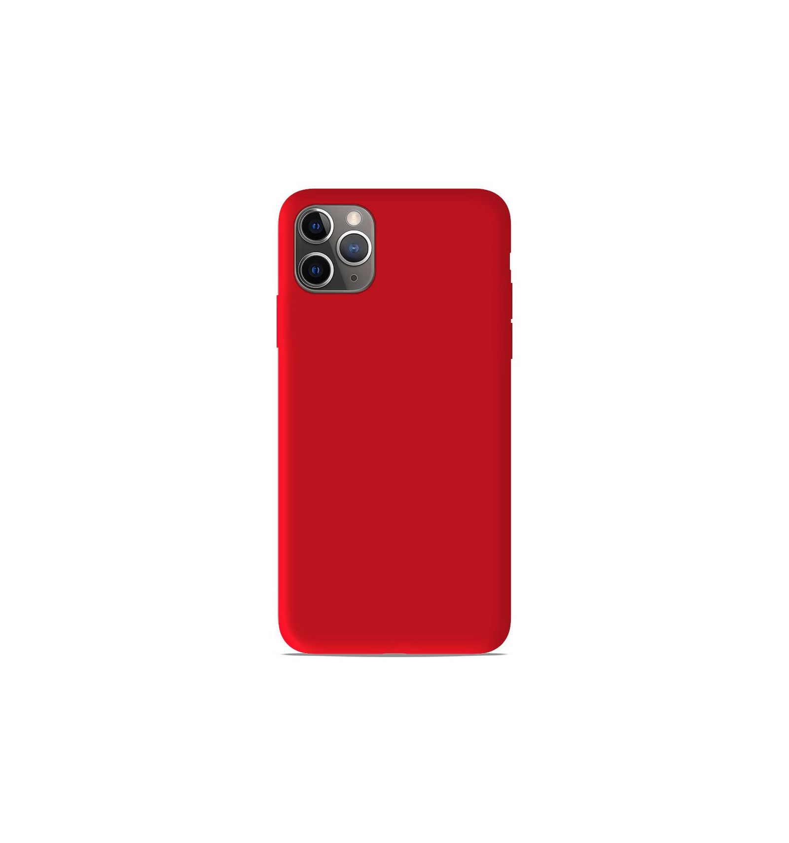 coque apple iphone 11 pro max silicone gel mat rouge mat