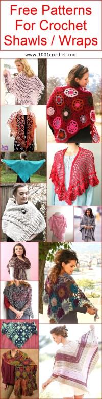 Free Patterns For Crochet Shawls / Wraps | 1001 Crochet