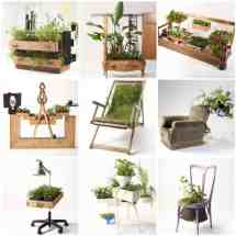Furnitures Recycled Beautiful Planters Peter