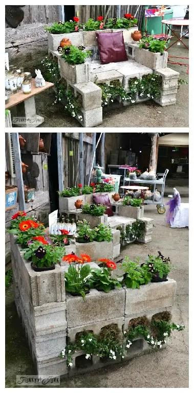 Reused Cinder Block Chair  1001 Gardens