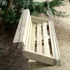Wood Lawn Chairs Remote Control Holder For Chair Arm Upcycled Pallet Swing Your Garden • 1001 Gardens
