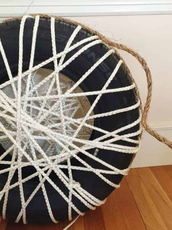 lawn chair covers navana revolving diy make a rope ottomans with old tire • 1001 gardens