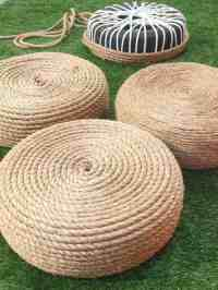 Diy Make a Rope Ottomans Chair with Old Tire | 1001 Gardens