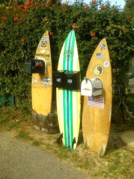 surfboard mailboxes - 1001 gardens