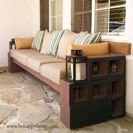 amazing cinder block benches