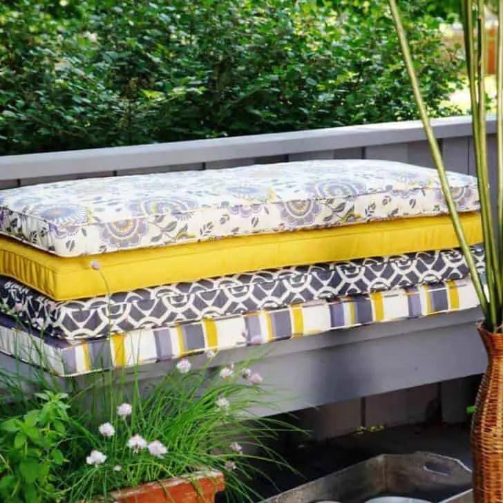 best outdoor bench cushions 1001 gardens