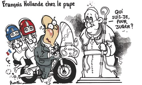 Francois Hollande cartoon