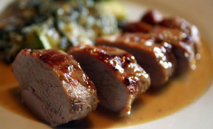 lombo porco com mel e mostarda