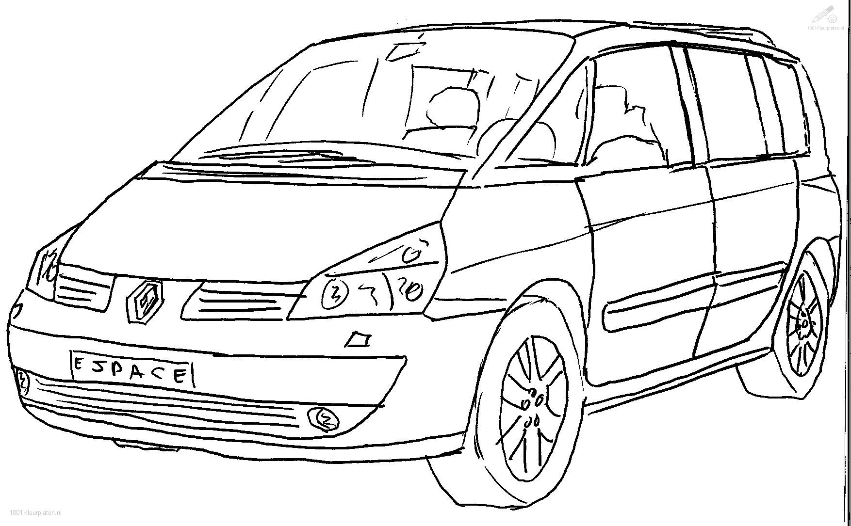 1001 Kleurplaten Voertuigen Gtgt Auto Kleurplaat Renault