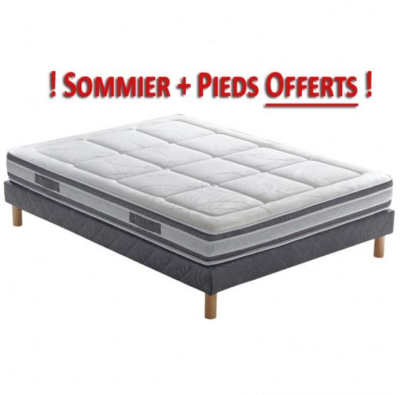 Pack Matelas Sommier Et Pieds PLS BOTANICA Latex