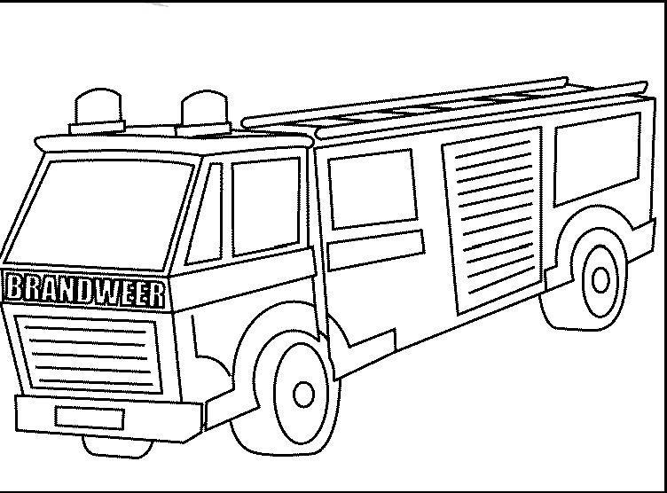 Malvorlage Feuerwehrauto