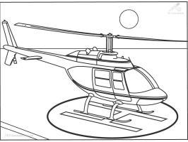 Malvorlage Hubschrauber