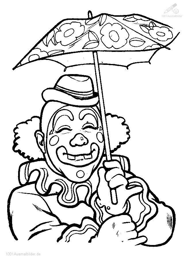 Malvorlage Zirkus Clown