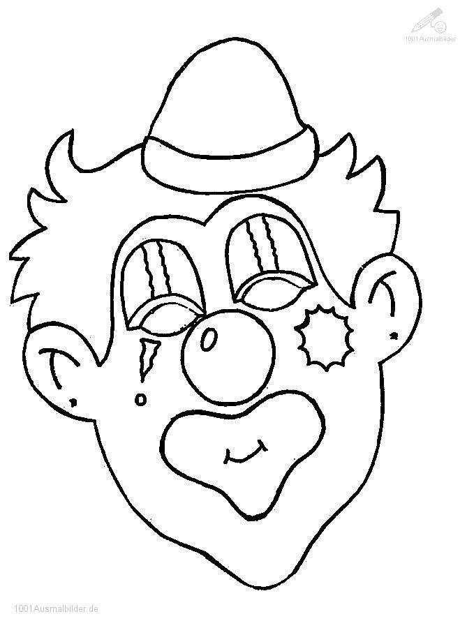Malvorlage Clown