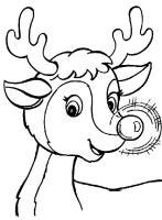 Malvorlage Rentier Rudolph
