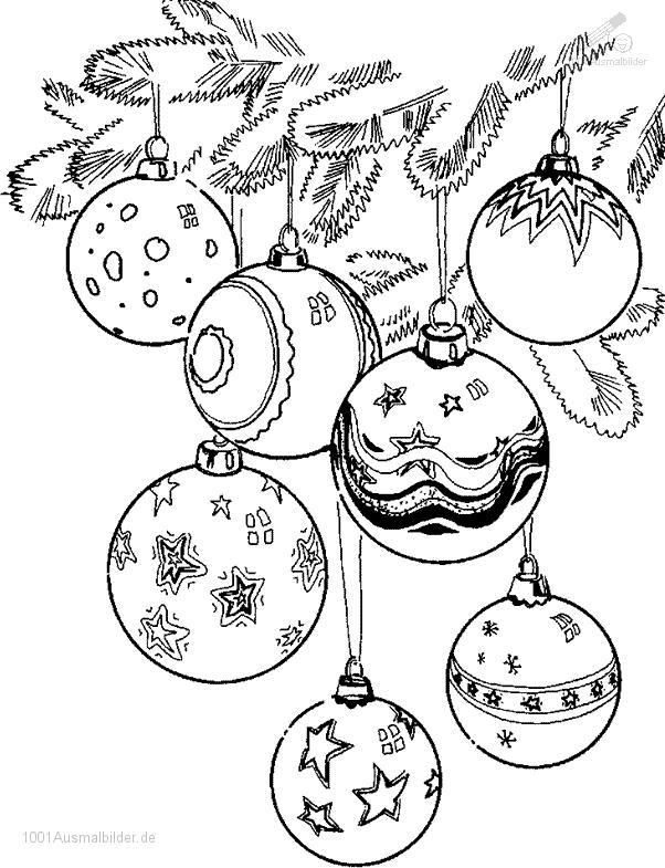Malvorlage Weihnachtskugeln