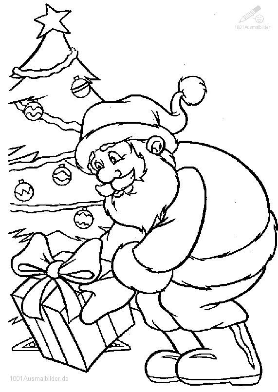 Weihnachtsmann Malvorlage