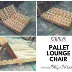 Double Lounge Chair Outdoor Three Chairs In Spanish Pallet 1001 Pallets