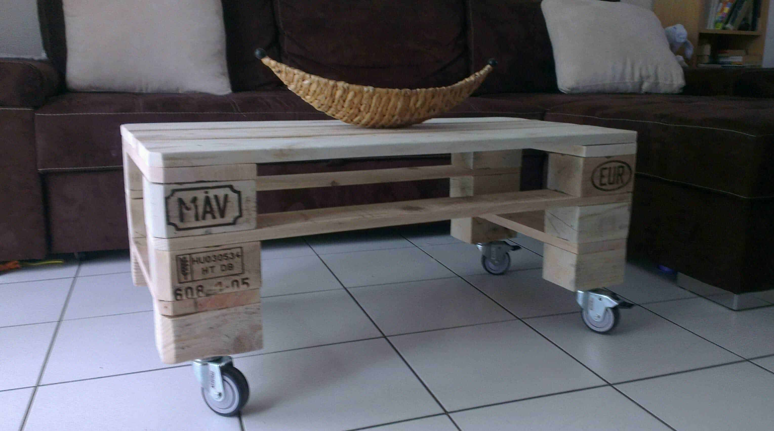 Pallet Coffee Table  Table Basse De Salon En Palette Recycle  1001 Pallets